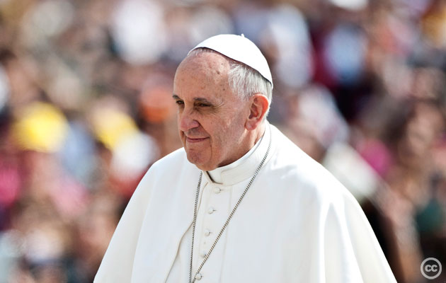 Pope Francis. Creative Commons: Catholic Church of England and Wales, 2013